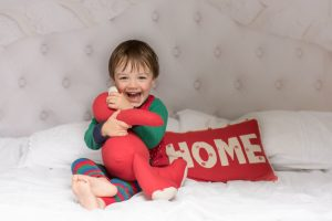Baby in elf suit baby photograoher Dublin Tickle Toes Photography