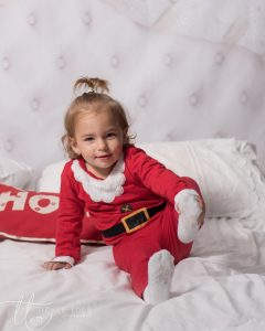 Baby in Santa suit baby photograoher Dublin Tickle Toes Photography