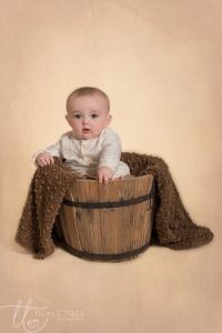 baby in barrel baby photographer dublin