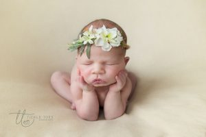 Floral froggy pose Newborn baby photography Dublin Meath Kildare Wicklow