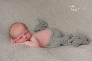 Little boy in grey Newborn baby photography Dublin Meath Kildare Wicklow