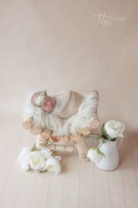 Newborn with flowers Newborn baby photography Dublin Meath Kildare Wicklow