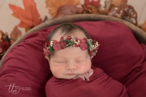 Floral Halo Newborn baby photography Dublin Meath Kildare Wicklow