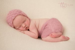 Sleeping in pink Newborn baby photography Dublin Meath Kildare Wicklow