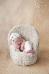 Baby sleeping on chair Newborn baby photography Dublin Meath Kildare Wicklow